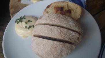 Pao com Chourico (Chourico bread)